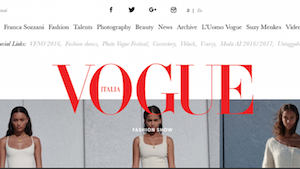 Vogue Italia website