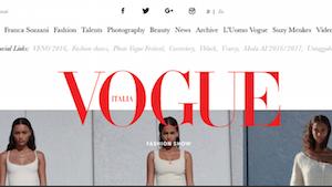 Vogue Italia website