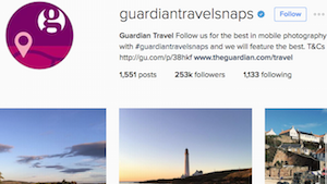 Guardian Travel Snaps on Instagram